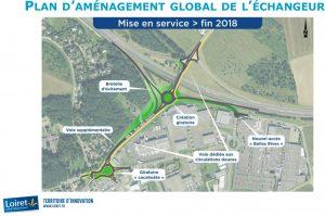 Plan d'aménagement global de l'échangeur RD2060 Chécy